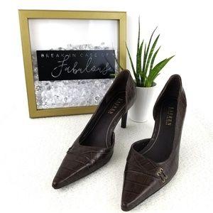 Ralph Lauren brown leather pumps Lexi style